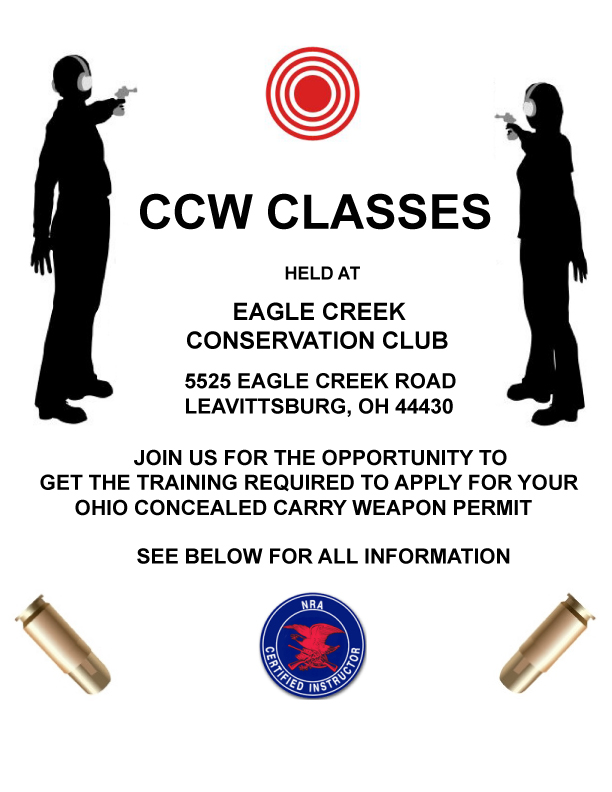 Ccw Classes Eagle Creek Conservation Club Northeast Ohio